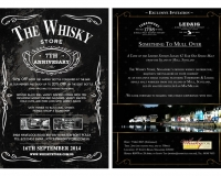 The Whisky Store - Flyers, Invitations, Mailer